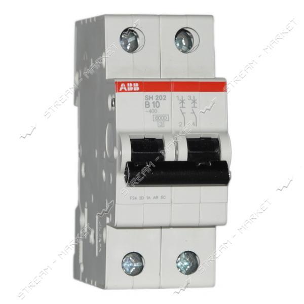 Автоматический выключатель двухполюсный АВВ SН 202-В63