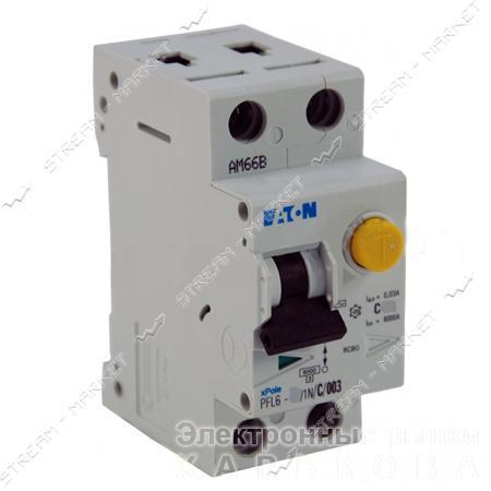 Дифференциальный автомат MOELLER (EATON) 1N/16 двухполюсный PFL 30mA - Автоматические выключатели, УЗО на рынке Барабашова