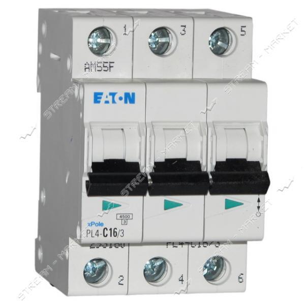 Автоматический выключатель трехполюсный MOELLER(EATON) PL 4-C16/3