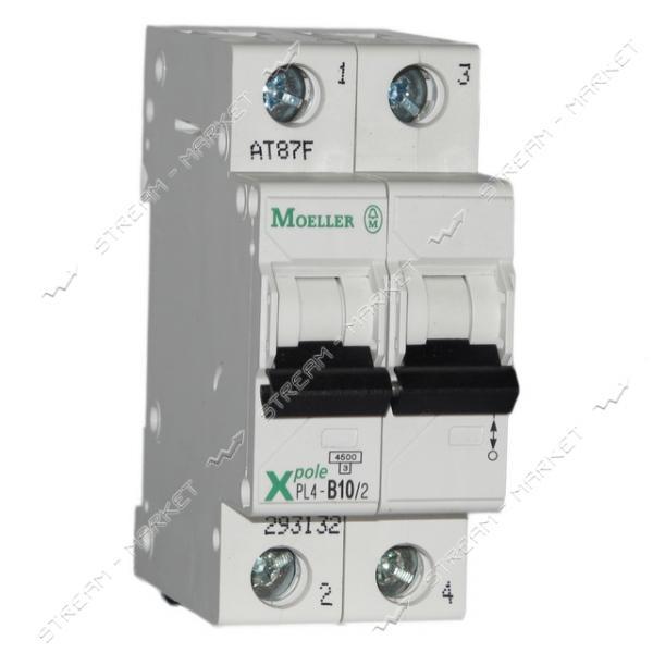 Автоматический выключатель двухполюсный MOELLER(EATON) PL 4-В06/2