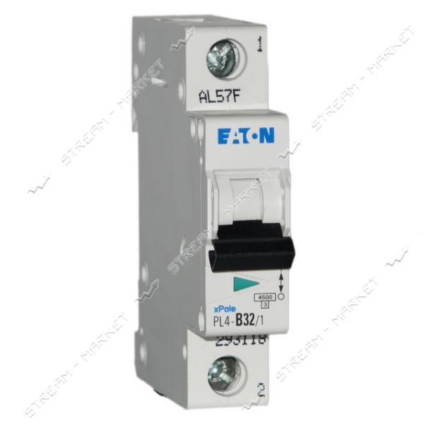Автоматический выключатель однополюсный MOELLER(EATON) PL 4-В40/1