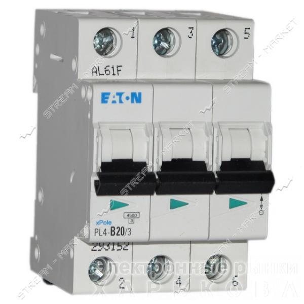 Автоматический выключатель трехполюсный MOELLER(EATON) PL 4-В06/3 - Автоматические выключатели, УЗО на рынке Барабашова