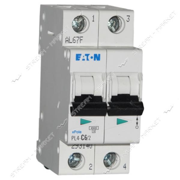 Автоматический выключатель двухполюсный MOELLER(EATON) PL 4-C63/2
