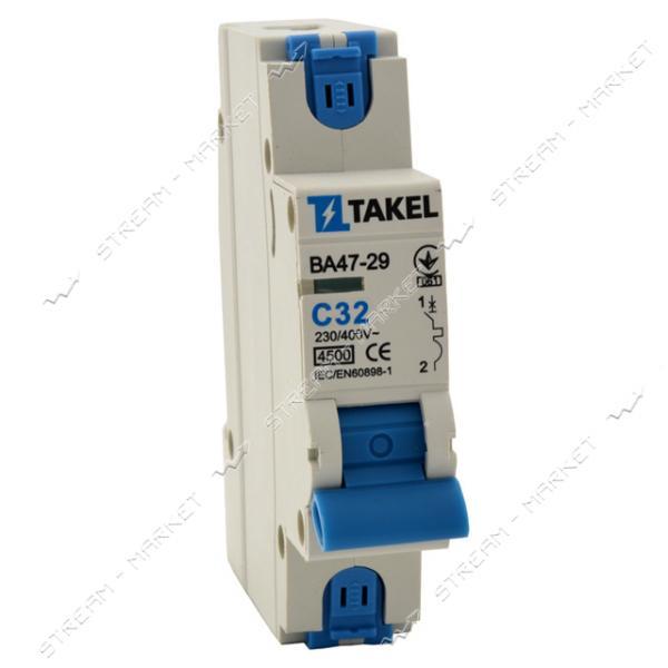 Автоматический выключатель ВА47-29-С Однополюсный 4, 5kA 32A