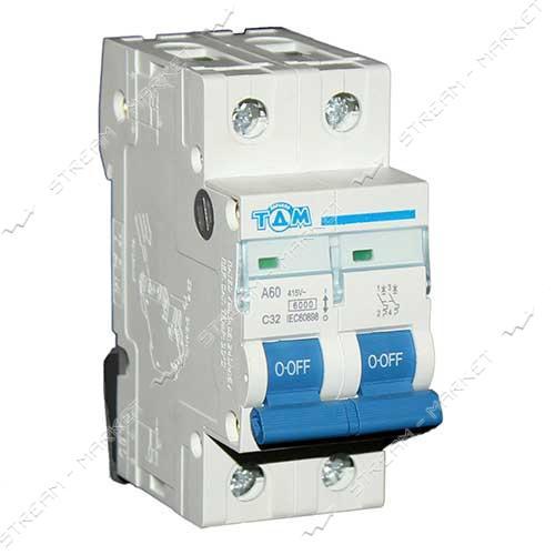 ТДМ автоматический выключатель двухполюсный 2Р 32А (6кА)