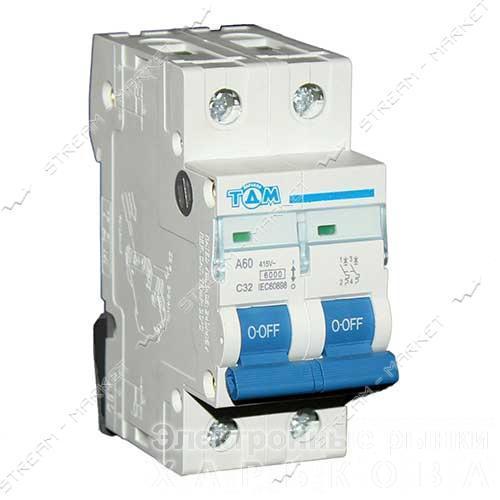 ТДМ автоматический выключатель двухполюсный 2Р 32А (6кА) - Автоматические выключатели, УЗО на рынке Барабашова