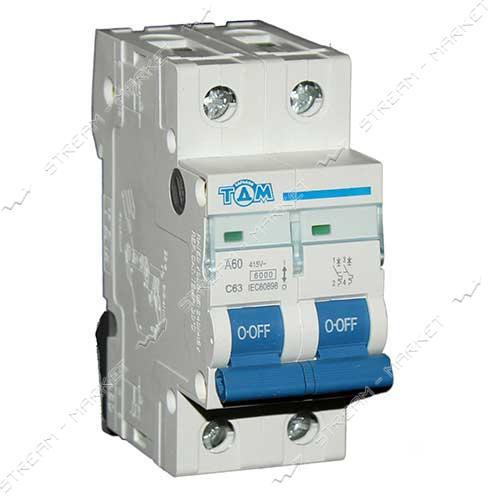 ТДМ автоматический выключатель двухполюсный 2Р 63А (6кА)
