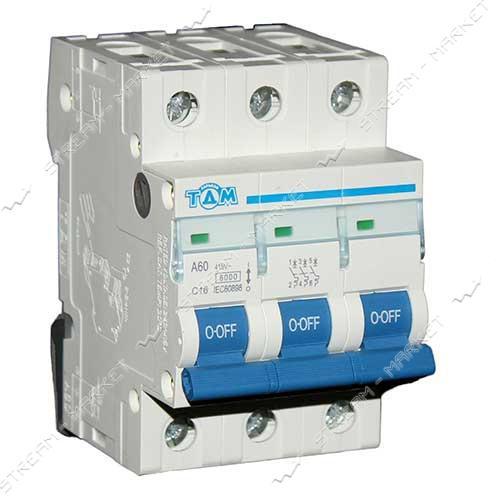 ТДМ автоматический выключатель трехполюсный 3Р 16А (6кА)