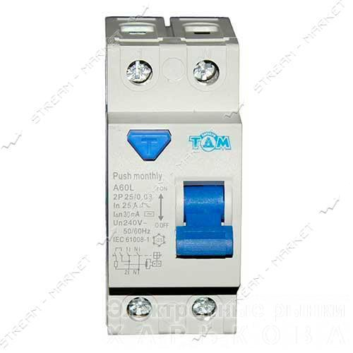 ТДМ УЗО-2 25А/ 30mА 2Р - Автоматические выключатели, УЗО на рынке Барабашова
