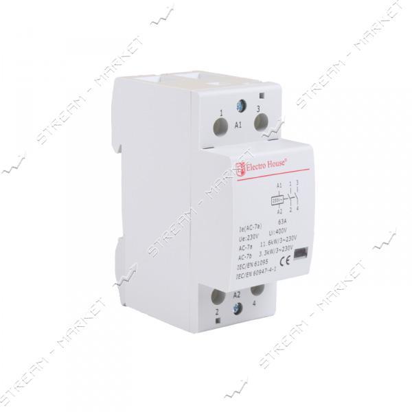 Electro House контактор модульный EH-MK-25 63A 230V 2 нормально открытых контакта