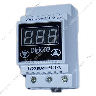 Цифровое реле напряжения Digi COP - 60A, ЛИФТ-контакты