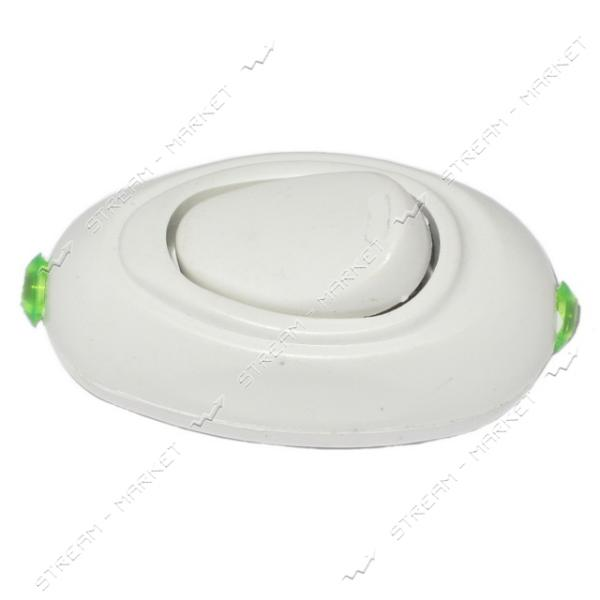 Выкл. для бра и торшеров белый 4А 220В (Китай)