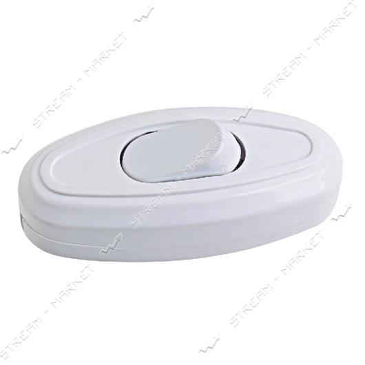 Выключатель для бра и торшеров белый 6А 250В (под ALFA)
