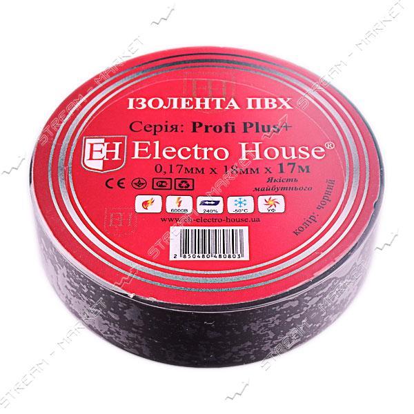 Изолента ПВХ Electro House 18x0, 15мм 17 м черная