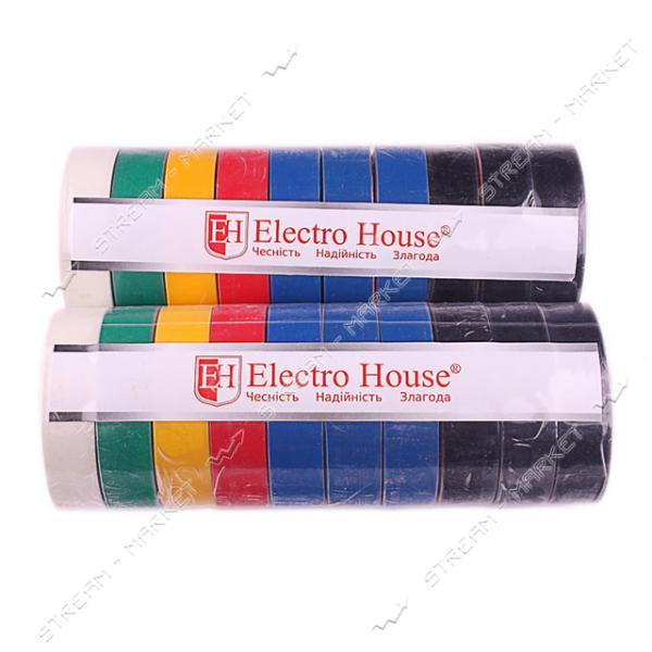 Изолента ПВХ Electro House 18x0, 15мм 21 м ассорти