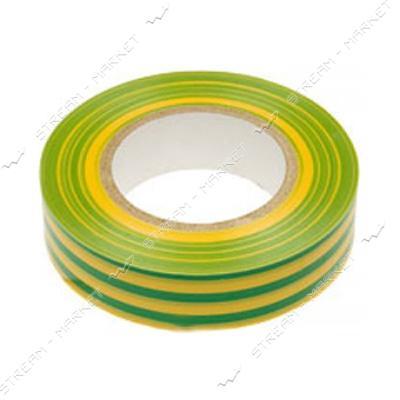 Изолента ПВХ ИЭК 15х0.13мм 20м желто-зеленая