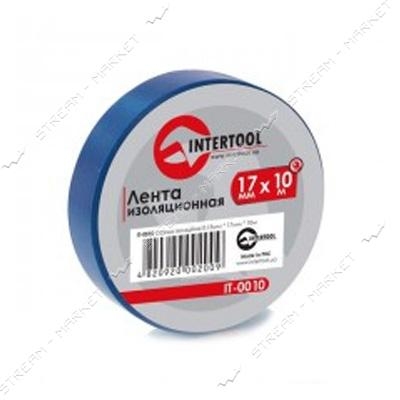 Изолента ПВХ Intertool 17х0, 15мм 10 м синяя
