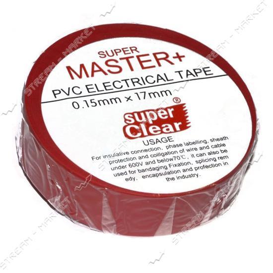 Изолента ПВХ Master  17х0.13мм 17м красная