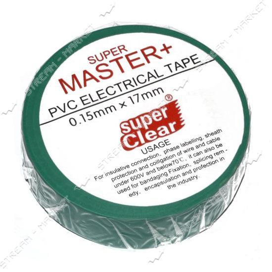 Изолента ПВХ Master 17х0.13мм 17м зеленая