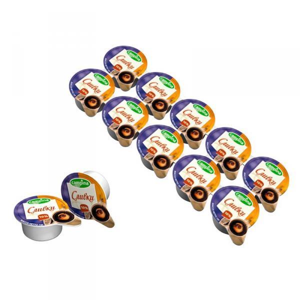 Сливки Campina для кофе стерилизованные, в порционных упаковках (10 шт)