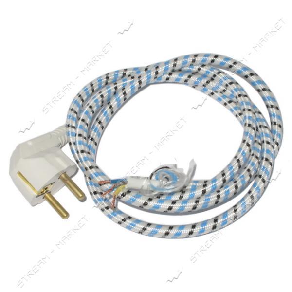 Шнур для утюга с лат. вилкой с заземл. (евро) 10А 220В (1, 3м)