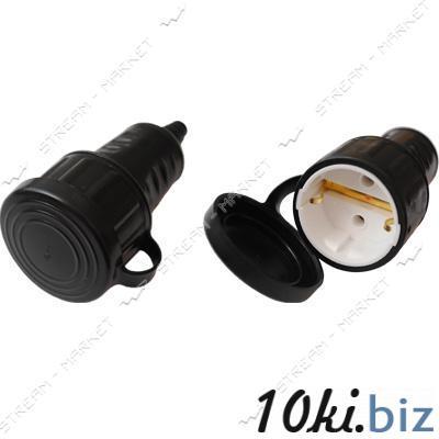 Штепсельное гнездо Bylectrica Р16-361 с заземлением и крышкой IP44 каучук Вилки электрические на Электронном рынке Украины