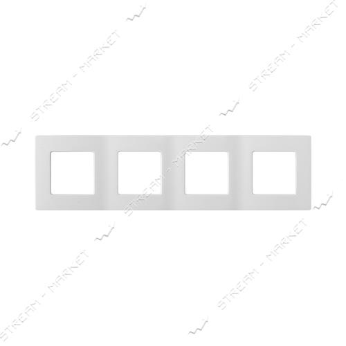 Рамка 4-х местная Bylectrica Мастер (374) белая Белоруссия
