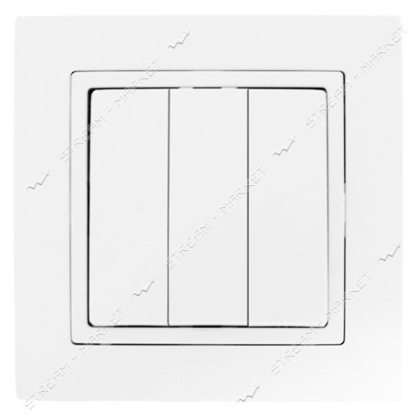 Выключатель трехклавишный Bylectrica Уют С1 10-862