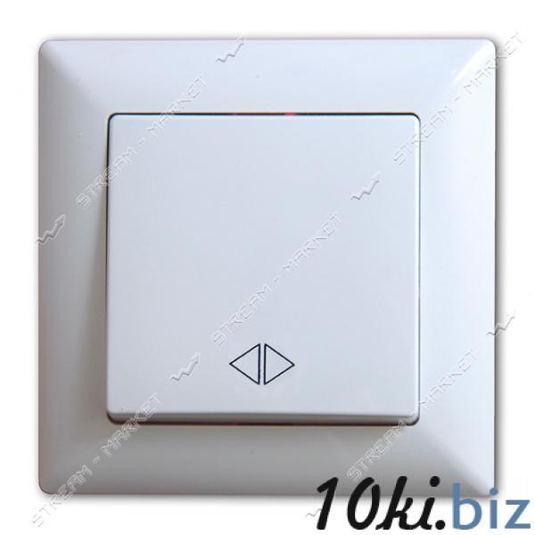 Выключатель реверсивний (перекрестный) GUNSAN MODERNA 2911135 белый Настенные выключатели на Электронном рынке Украины