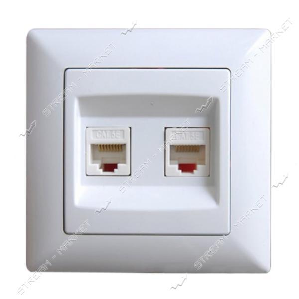 Розетка компьтерная двойная Gunsan Visage G VS 2811131