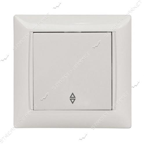 Выключатель проходной LUXEL PRIMERA 3015 белый 10шт