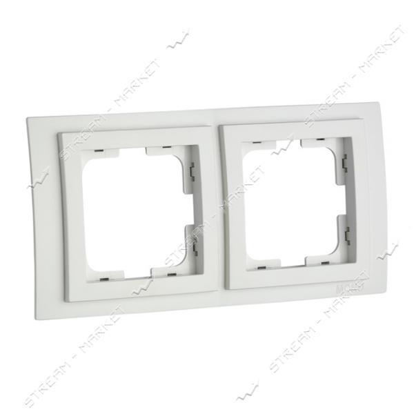 190000-161 MONO ELECTRIC Despina Рамка двухместная белая