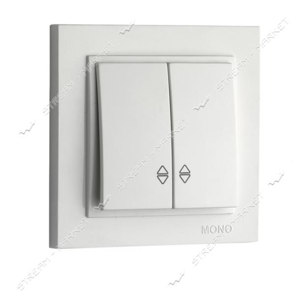 190025-111 MONO ELECTRIC Despina Выключатель двухклавишный проходной белый