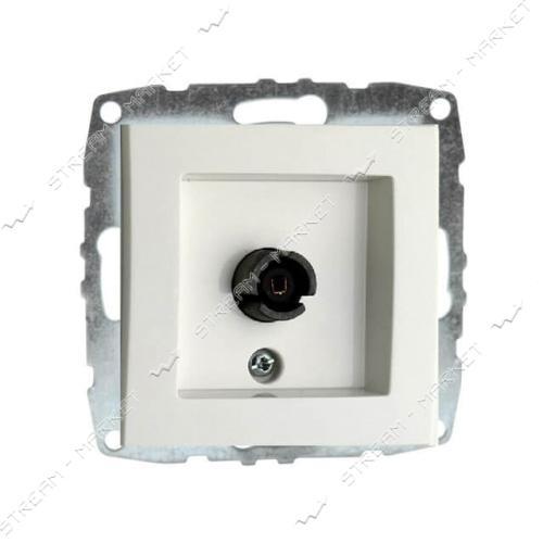 MONO ELECTRIC 500-001905-137 L/D МЕХАНИЗМ Розетка TV проходная белая