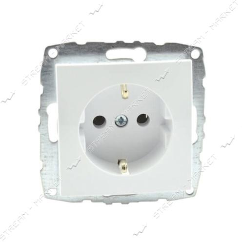 MONO ELECTRIC 500-001921-117 L/D МЕХАНИЗМ розетка с заземлением белая