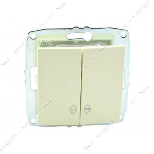 MONO ELECTRIC 500-001723-111 L/D МЕХАНИЗМ Выключатель двухклавишный проходной крем