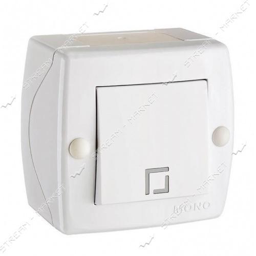 MONO ELECTRIC OCTANS 104-010101-100 (накладня серия) Выключатель белый