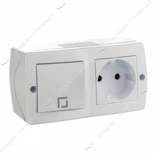MONO ELECTRIC OCTANS 104-010101-185 (накладня серия) Выключатель розетка белый
