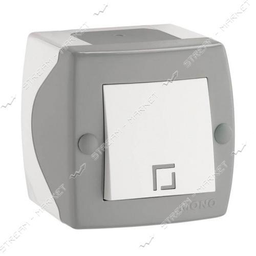 MONO ELECTRIC OCTANS 104-020001-100 (накладная серия) Выключатель серый