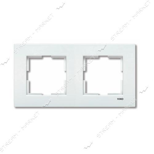 Рамка двухместная Viko Karre 0201 горизонтальная белая