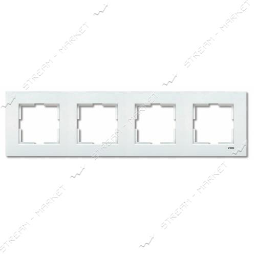 Рамка четырехместная Viko Karre 0203 горизонтальная белая