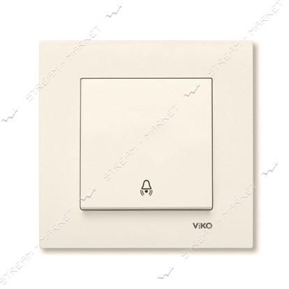 Кнопка звонка Viko Karre 0106 крем