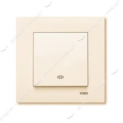 Выключатель перекрестный(реверсивный) Viko Karre 0131 крем