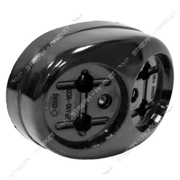 Розетка 2РА16-У05 накладная черная 16А