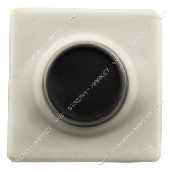 Кнопка для звонка белая с черной клавишей (квадрат-круг) на блистере Харьков