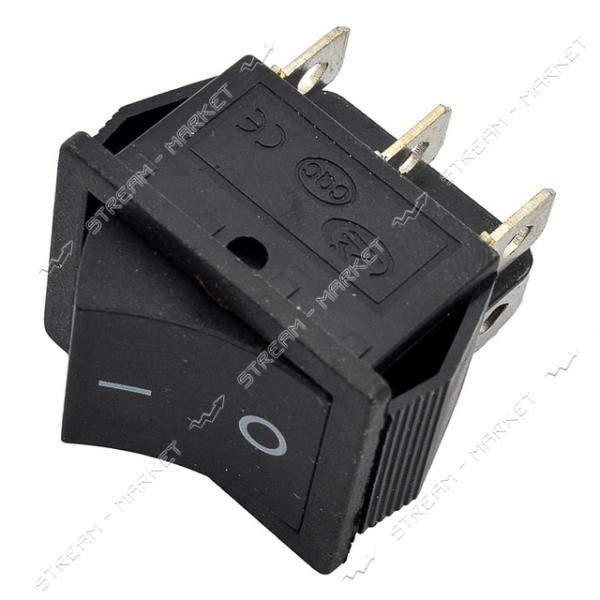Кнопка 'Вкл/Выкл' (с возвратом) клавиша широкая 6 контактов 2 положения без подсветки (кп-45в)
