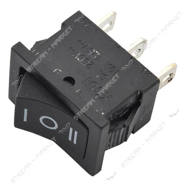 Кнопка 'Вкл/Выкл' клавиша средняя 3 контакта 3 положения без подсветки (кп-7)