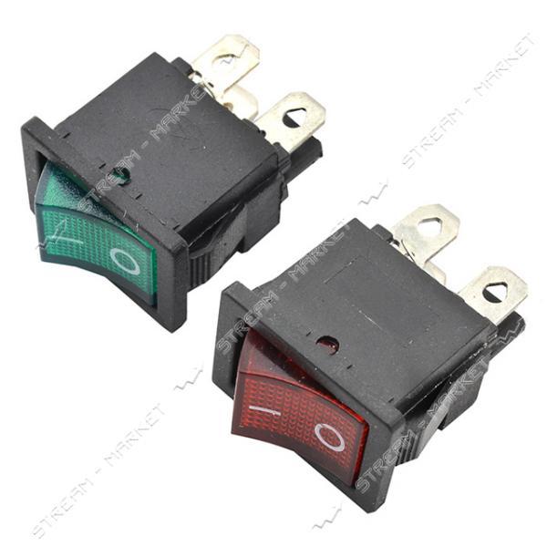 Кнопка 'Вкл/Выкл' клавиша средняя 4 контакта 2 положения с подсветкой (кп-9и)