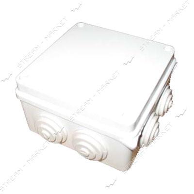 Коробка распределительная наружного монтажа 100*100*70мм с резинками IP65