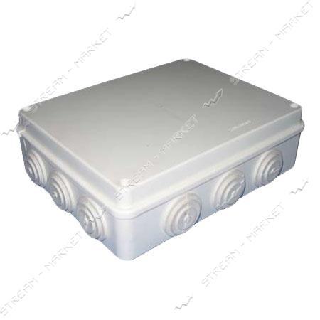 Коробка распред. наружного монтажа 255*200*80мм. с резинками IP65